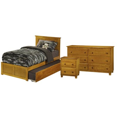 Ernest Nantucket Panel 3 Piece Bedroom Set Finish: Caramel Latte, Size: Full