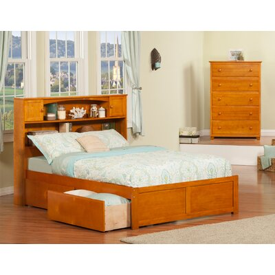 Edwin Platform 2 Piece Bedroom Set Finish: Caramel Latte, Size: Full