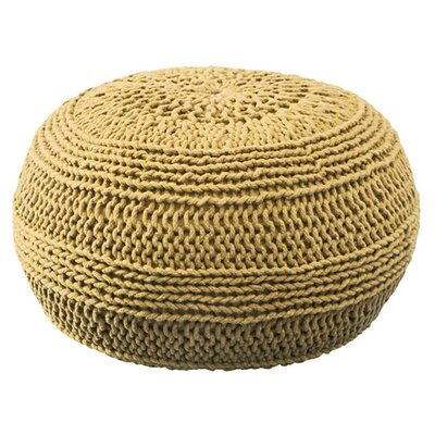 Ramon Color Cable Knit Ottoman Upholstery: Mustard