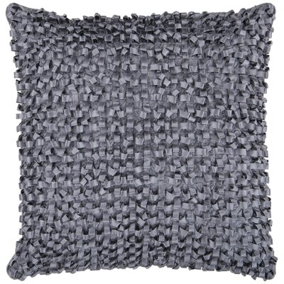 Isabelle Synthetic Throw Pillow Size: 22 H x 22 W, Color: Charcoal, Fill: Down