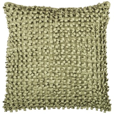 Raekwon Synthetic Throw Pillow Size: 22 H x 22 W, Color: Green, Fill: Down