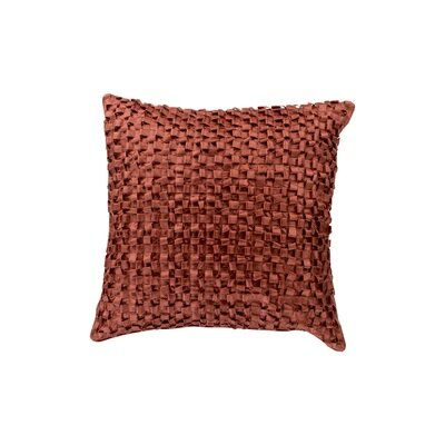 Raekwon Synthetic Throw Pillow Size: 22 H x 22 W, Color: Burnt Orange, Fill: Down