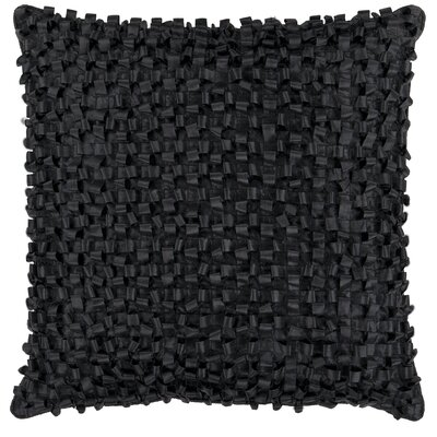 Isabelle Synthetic Throw Pillow Size: 18 H x 18 W, Color: Black, Fill: Down