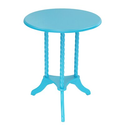 Classica Pedestal End Table Finish: Blue