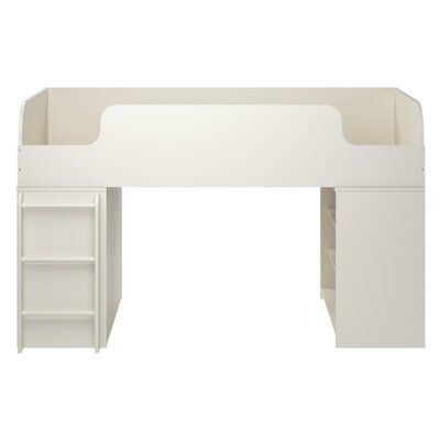 June Panel Bed with Ladder and Bookcase Finish: White Stipple
