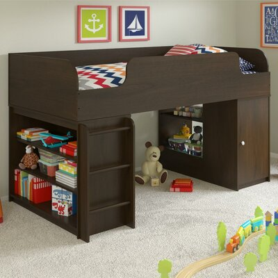 June Twin Panel Bed with Toy Box and Bookcase Finish: Resort Cherry