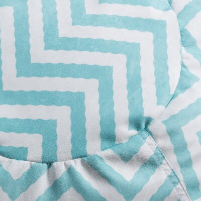 Chevron Bean Bag Chair Upholstery: Aqua