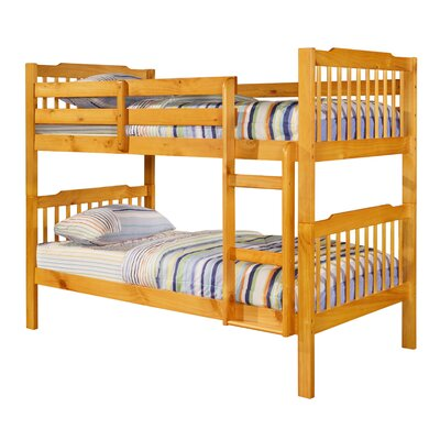 Theodore Twin Bunk Bed Finish: Honey Pine