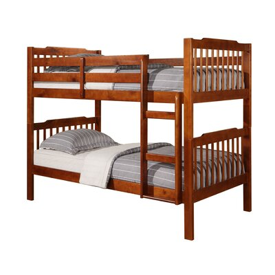 Theodore Twin Bunk Bed Finish: Mahogany