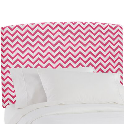 Poppy Honey in Candy Pink Upholstered Panel Headboard Size: Full