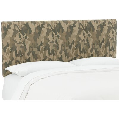 Sage Upholstered Panel Headboard Size: Queen