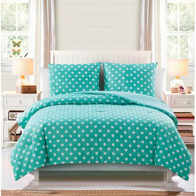 Jane Comforter Set Color: Light Blue, Size: Full