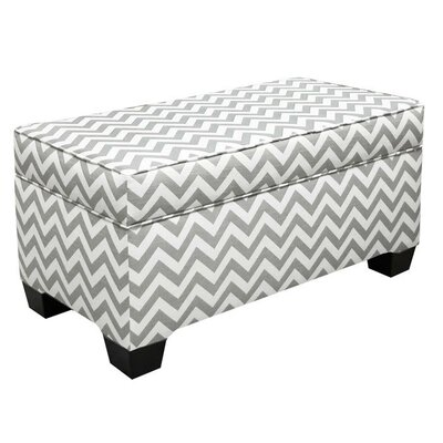 Vince Storage Ottoman Color: Ash Grey/White