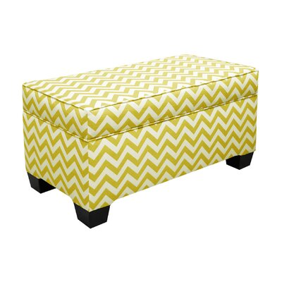 Vince Storage Ottoman Color: Yellow Slub