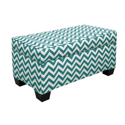 Vince Storage Ottoman Color: True Turquoise