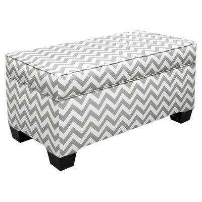Vince Storage Ottoman Color: Grey / White