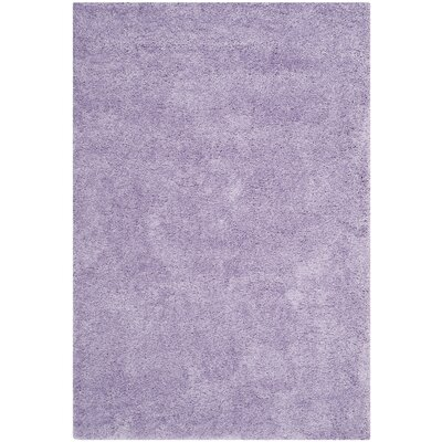 Ariel Lilac Shag Area Rug Rug Size: Rectangle 86 x 12
