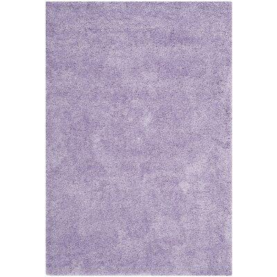 Ariel Lilac Shag Area Rug Rug Size: 4 x 6