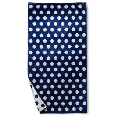 Dot Beach Towel Color: Blue