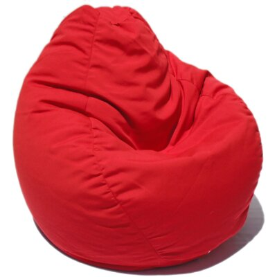 Bean Bag Chair Upholstery: China Red