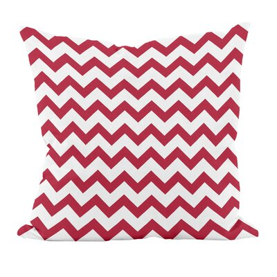 Milo Decorative Throw Pillow Color: Red, Size: 18 H x 18 W