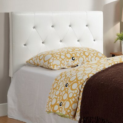 Sophia Rose Upholstered Panel Headboard Size: Twin, Finish: White