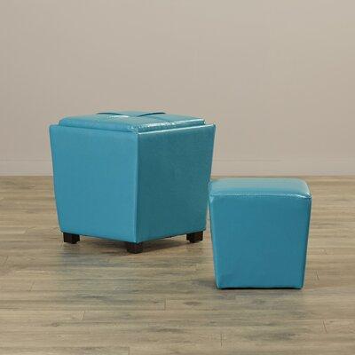 Isaac 2 Piece Ottoman Set Upholstery: Blue