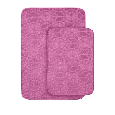 Katy Sage Bath Rug Color: Pink