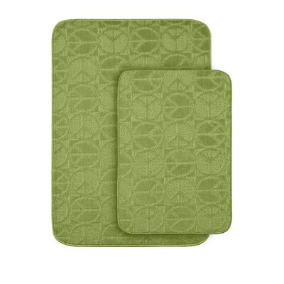 Katy Sage Bath Rug Color: Lime Green