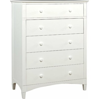 Bonneau 5 Drawer Media Chest Color: White