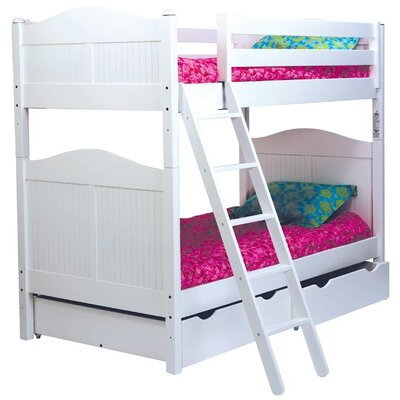 David Twin Bunk Bed Finish: White