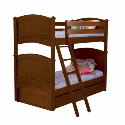 Bonneau Traditional Twin Bunk Bed Color: Cherry