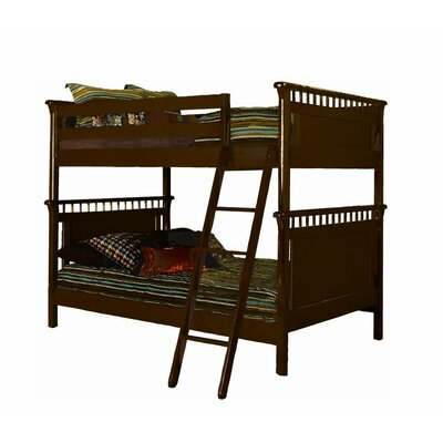Bonneau Twin Futon Bunk Bed Color: Espresso