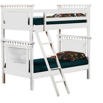 Bonneau Twin Futon Bunk Bed Color: White