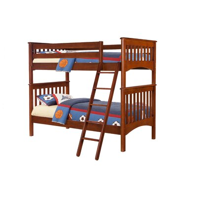 Bonneau Modern Twin Bunk Bed Color: Cherry