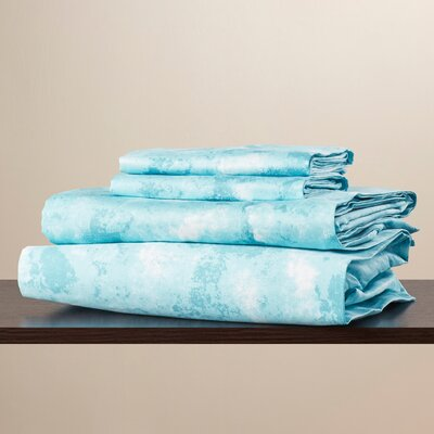 Miles 300 Thread Count Sheet Set Size: Extra-Long Twin, Color: Ocean