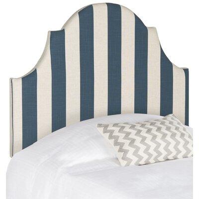Ricardo Twin Upholstered Panel Headboard Upholstery: Navy / White