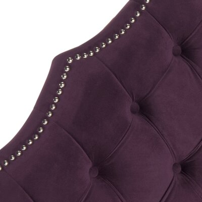 Isaac Twin Upholstered Panel Headboard Upholstery: Aubergine