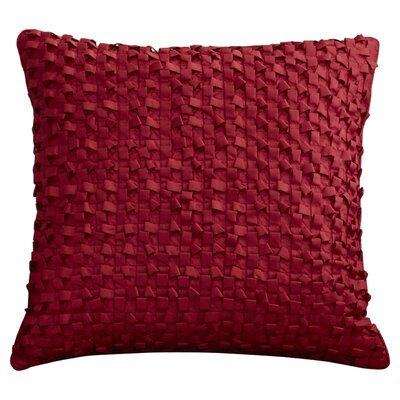 Raekwon Synthetic Throw Pillow Size: 18 H x 18 W, Color: Red, Fill: Down