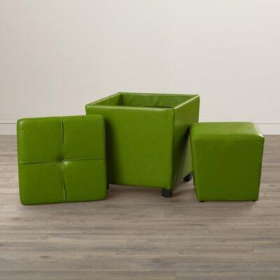 Isaac 2 Piece Ottoman Set Upholstery: Green