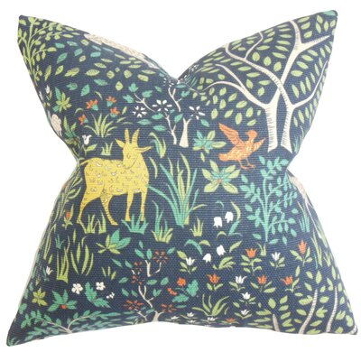 Marlene Floral Cotton Throw Pillow Color: Aquatint, Size: 20 H x 20 W
