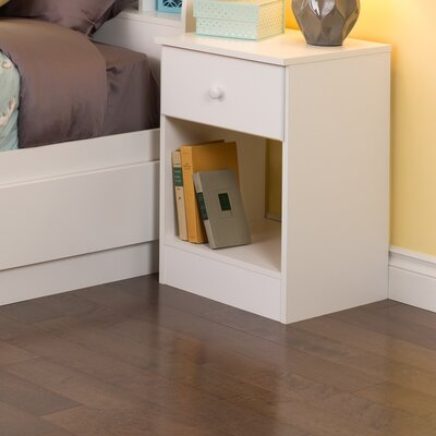 Bailey 1 Drawer Nightstand Color: White