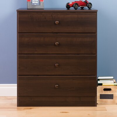Bailey 4 Drawer Dresser Color: Espresso