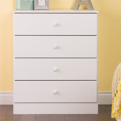 Bailey 4 Drawer Dresser Color: White