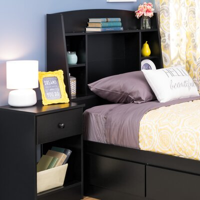 Bailey Twin Bookcase Headboard Finish: Black