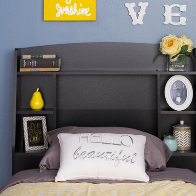 Bailey Twin Bookcase Headboard Color: Black