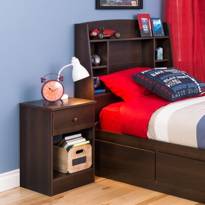 Bailey Twin Bookcase Headboard Finish: Espresso