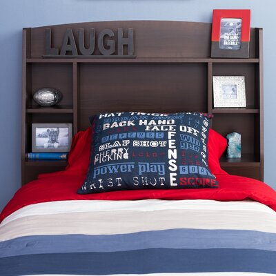 Bailey Twin Bookcase Headboard Color: Espresso