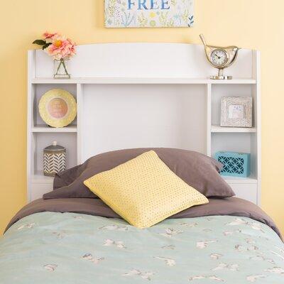 Bailey Twin Bookcase Headboard Color: White
