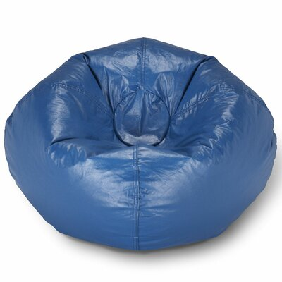 Kierra Bean Bag Chair Upholstery: Blue Matte